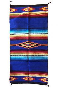 Saltillo Teppich / Läufer dunkelblau ca. 80 cm x..