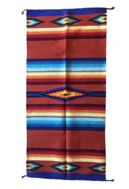 Saltillo Teppich / Läufer rost ca. 80 cm x 160 cm