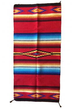 Saltillo Teppich / Läufer rot ca. 80 cm x 160 cm