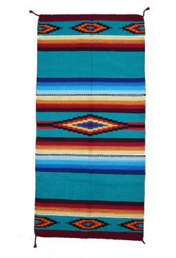 Saltillo Teppich / Läufer türkisblau ca. 80 cm x..