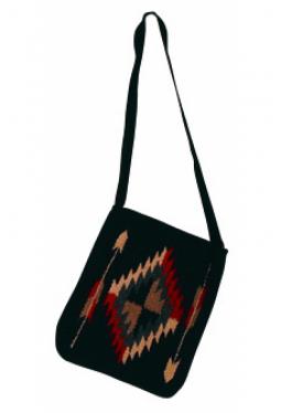 Schultertasche aus Wolle black arrow 25 cm x 30 cm