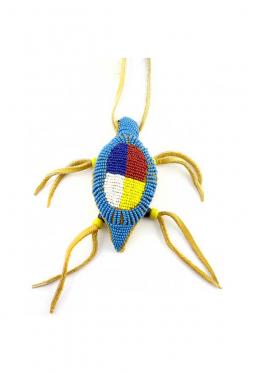 Nabelschnur Amulett Lakota Medicine Wheel türkis