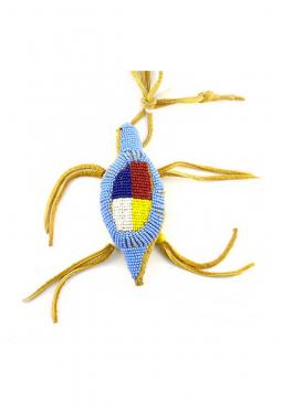 Nabelschnur Amulett Lakota Medicine Wheel hellblau