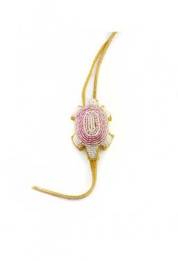 Nabelschnur Amulett Lakota klein perlmutter rosa