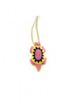 Nabelschnur Amulett Lakota klein gelb rosa
