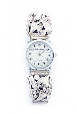 Navajo Uhr mit Adler Silberarbeiten