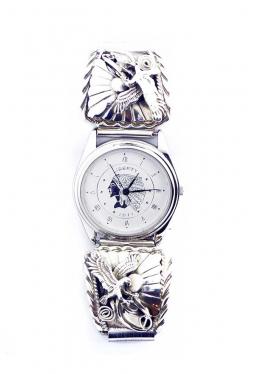 Navajo Uhr mit Adler Silberarbeiten (2)