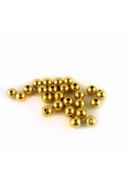 Metallperlen goldig 8 mm 25 Stk.