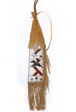 Pfeifenbeutel Pipebag Lakota John Espinoza, Ogal..
