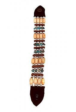 Armband aus Büffelknochen mit Türkissplitter gross