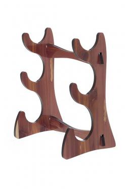 Flötenständer für 3 Flöte aus Zedernholz