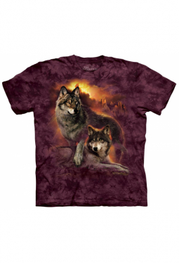 Wolf Sunset - The Mountain - T Shirt