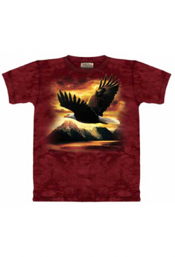 Eagle Flying - The Mountain - T Shirt