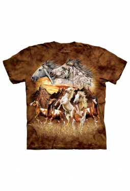 Find 15 Horses - The Mountain - T Shirt