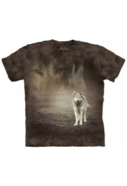 Grey Wolf Portrait - The Mountain - T Shirt