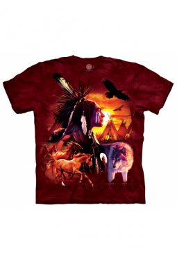 Indian Collage - The Mountain - T Shirt