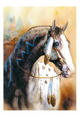 Horse Spirit - Kunstkarte 13 cm x 18 cm