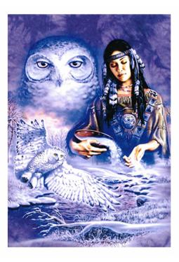 Owl Mainden - Kunstkarte 13 cm x 18 cm