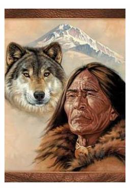 Spirit Wolf - Kunstkarte 13 cm x 18 cm