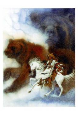 Two Bears Of The Blackfeet - Kunstkarte 14 cm x ..