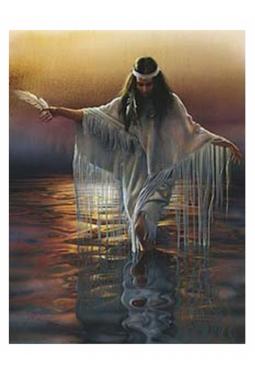 Golden Reflections 2 - Kunstkarte 14 cm x 18 cm