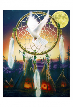 Dreamcatcher Dreams - Kunstkarte gross 21.5 cm x..