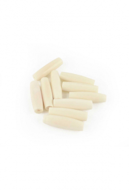 Hairpipes weiss - 2.5 cm - 10 Stück