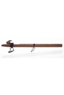 D Mol tief Dünn - Nussbaum - Indianische Flöte