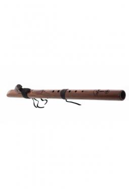 E Mol tief Dünn - Nussbaum - Indianische Flöte