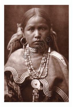 Jicarilla Maiden - Postkarte