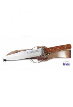 Bowie Messer Amboina Holz Griff - 18 cm Klinge