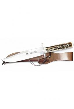 Bowie Messer Hirschhorn Griff - 18 cm Klinge