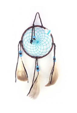 Navajo Traumfänger 11 cm - türkisblau