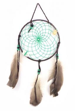 Navajo Traumfänger 16 cm - grün
