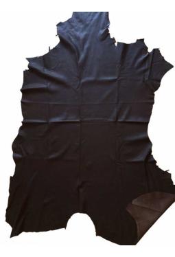 Hirschleder ganz fein - dunkelbraun 14 sf / 1.3 m2