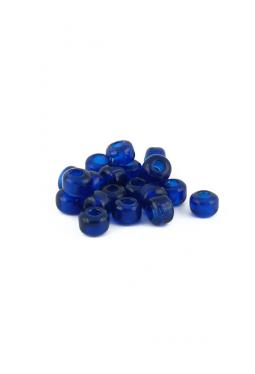 Crow Beads dunkelblau transparent 9 mm Glasperlen