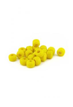 Crow Beads gelb 9 mm Glasperlen