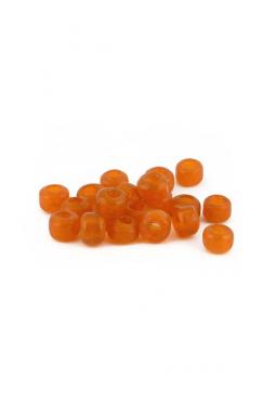Crow Beads orange transparent 9 mm Glasperlen