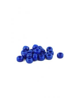 Crow Beads dunkelblau royal 9 mm Glasperlen Czech