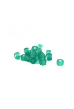 Crow Beads grün transparent matt 9 mm Glasperlen..