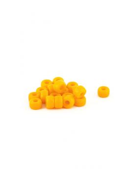 Crow Beads orange hell 9 mm Glasperlen Czech