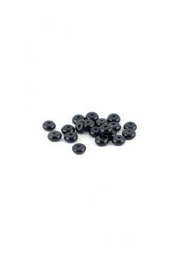Halbedelstein Obsidian disc form 6mm