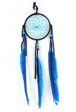 Navajo Traumfänger 8 cm schwarz/blau
