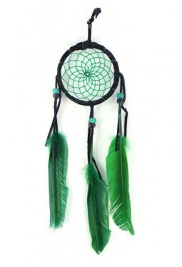 Navajo Traumfänger 8 cm schwarz/grün