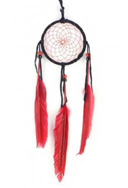 Navajo Traumfänger 8 cm schwarz/rot