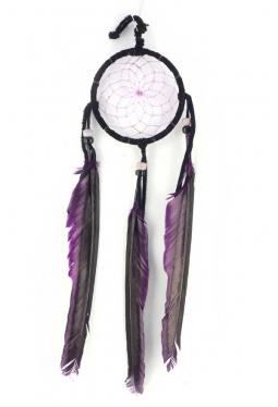 Navajo Traumfänger 8 cm schwarz/violett