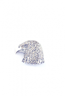 Anhänger Adlerkopf 3-dimensional Silber