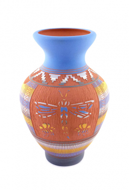 Navajo Red Clay Pottery Libelle - 12 cm x 20 cm