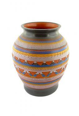 Navajo Red Clay Pottery - 14 cm x 17 cm