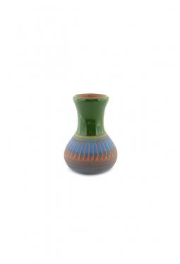 Navajo Red Clay Pottery grün - 5.5 cm x 7.5 cm